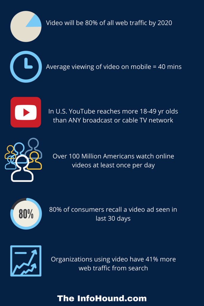 InfoHound online video stats infographic